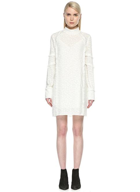 İro Elbise Beyaz